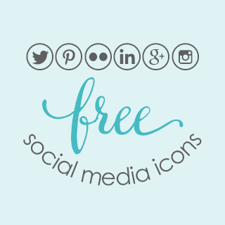 Free social media icons for websites