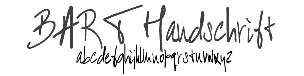 barthandschriftfont