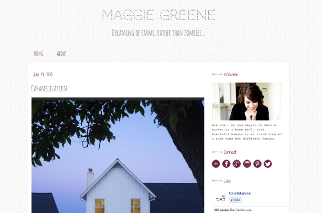 maggie greene premade blogger template