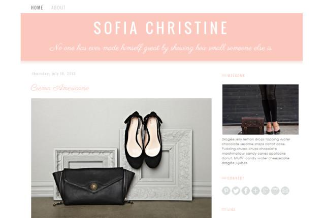 sofia christine premade blogger template