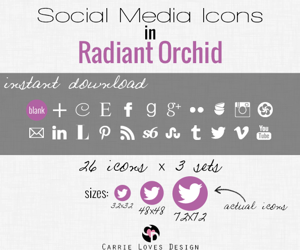 social media icons ad