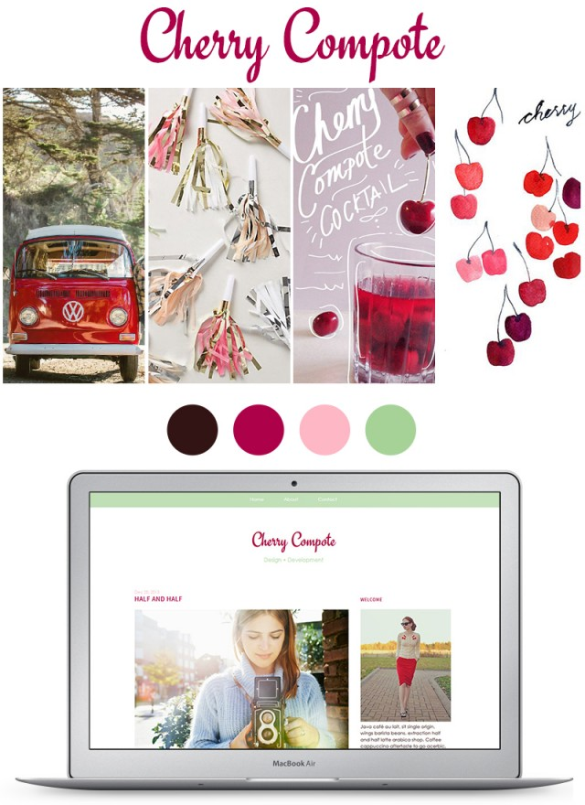 cherry compote blog mood board