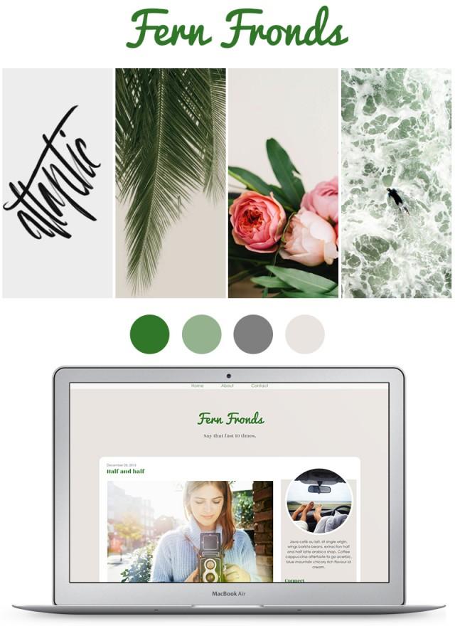 fern fronds blog mood board