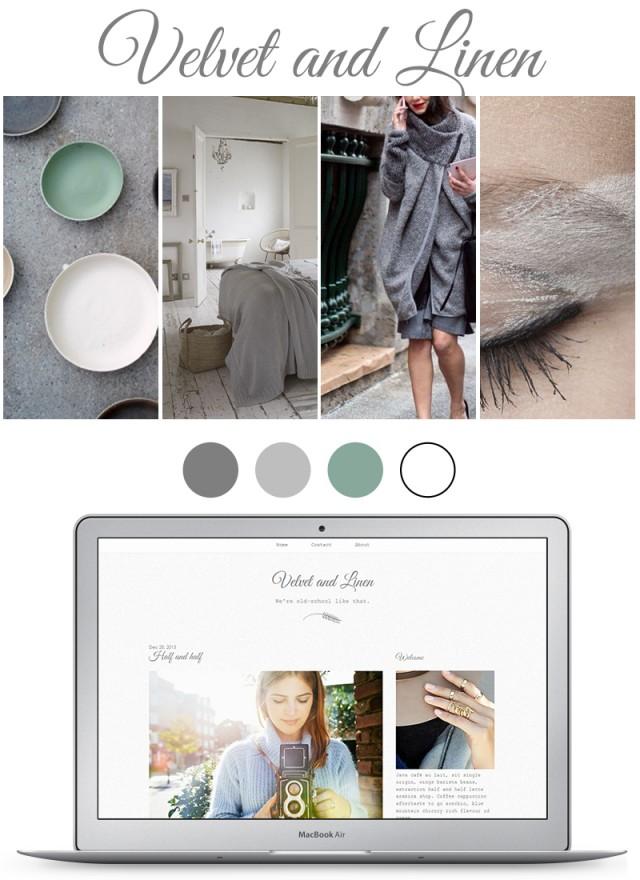 velvet and linen blog mood board