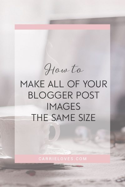 How to make all post images the same size