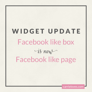 facebook like box page update