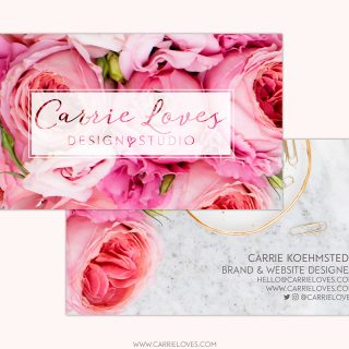 new business cards carrie loves