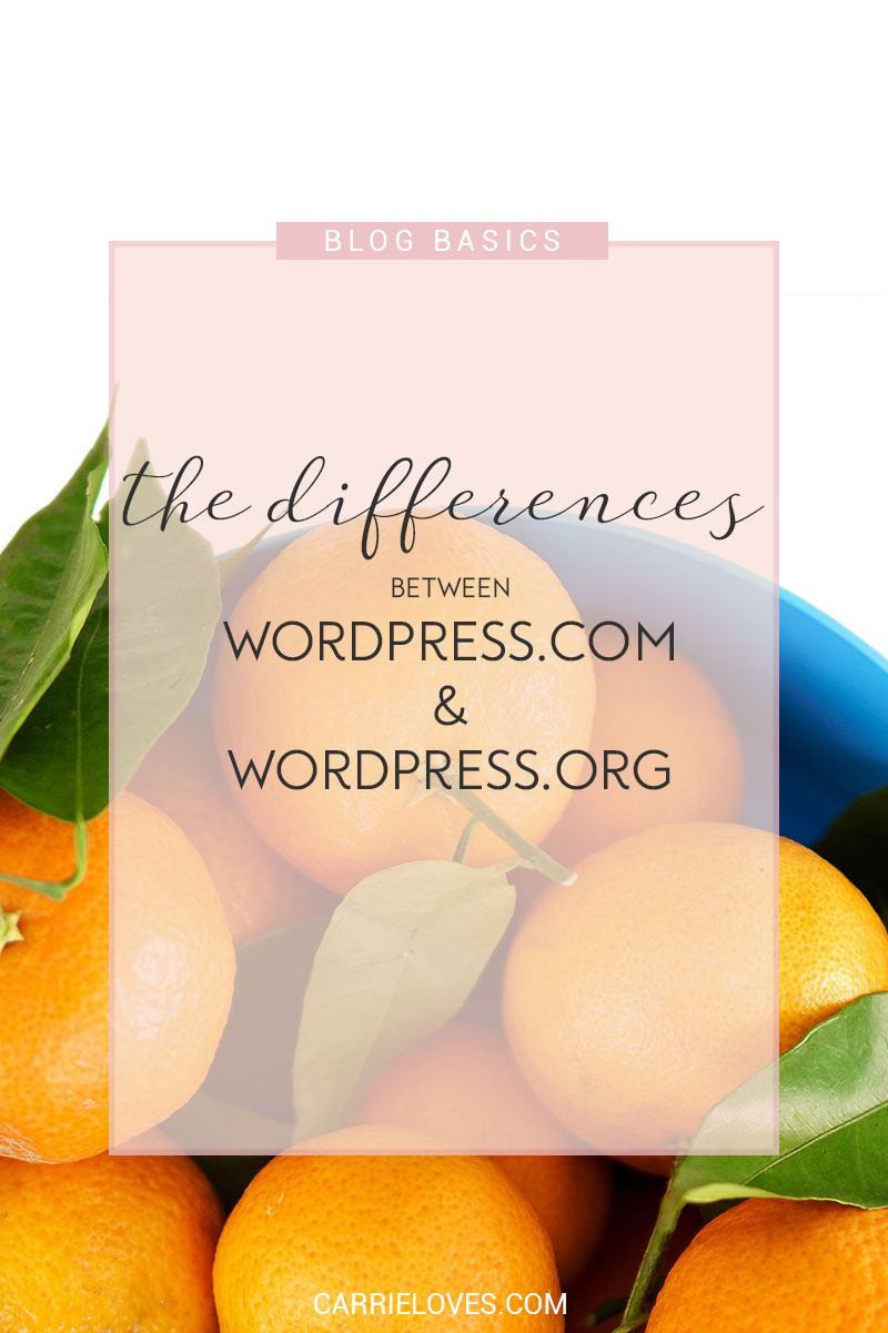 The differences between WordPress.com and WordPress.org - Carrie Loves Blog
