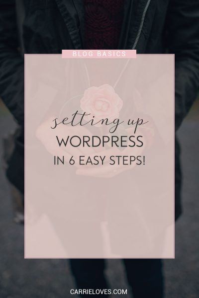 Setting up a WordPress site in six easy steps