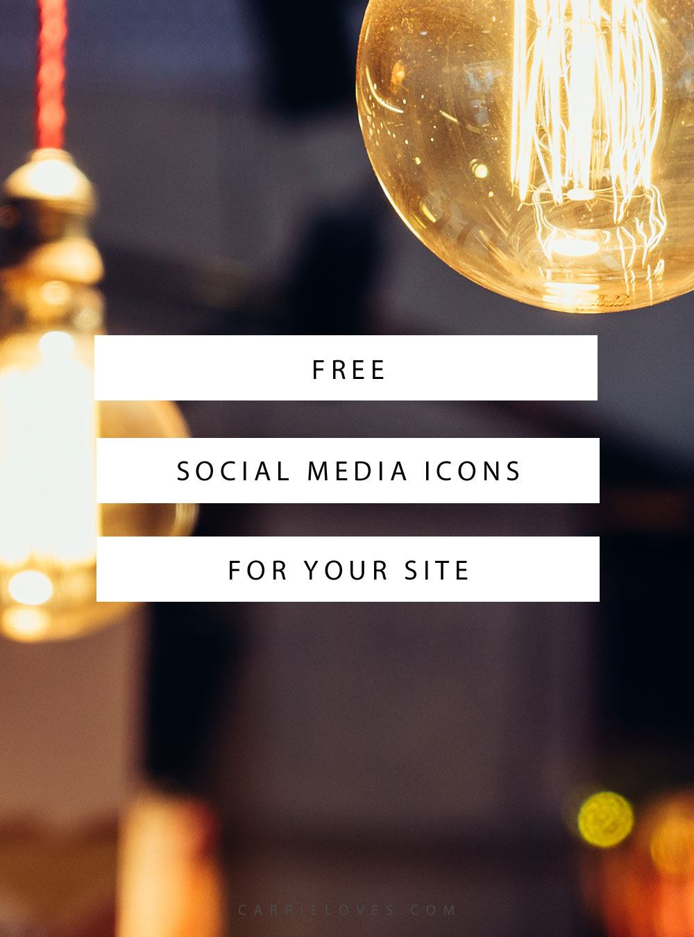 Free social media icons for your site - Carrie Loves Blog