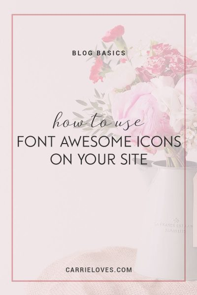 Font Awesome Icons for your blog