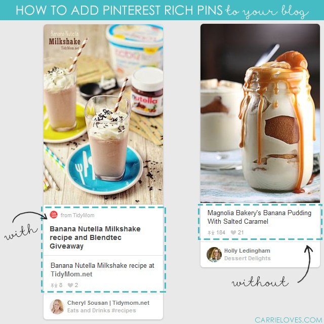 how to add pinterest rich pins