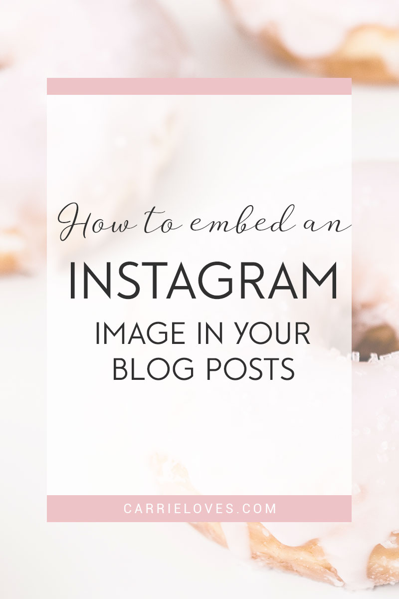 How to embed an Instagram image in your blog posts - Carrie Loves Blog