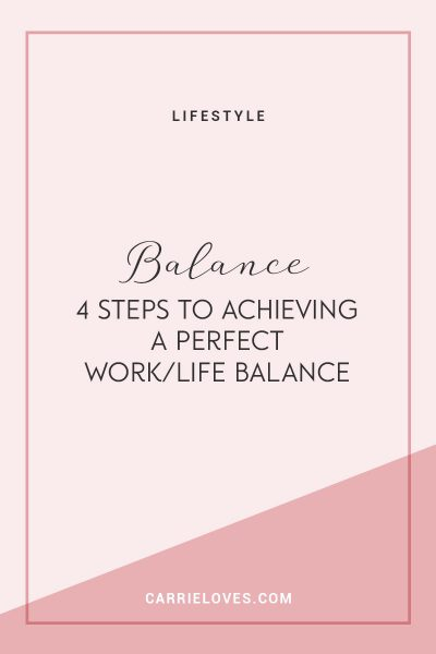 How do you achieve work/life balance?