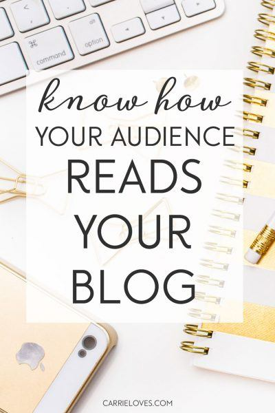 Know how your audience reads your blog