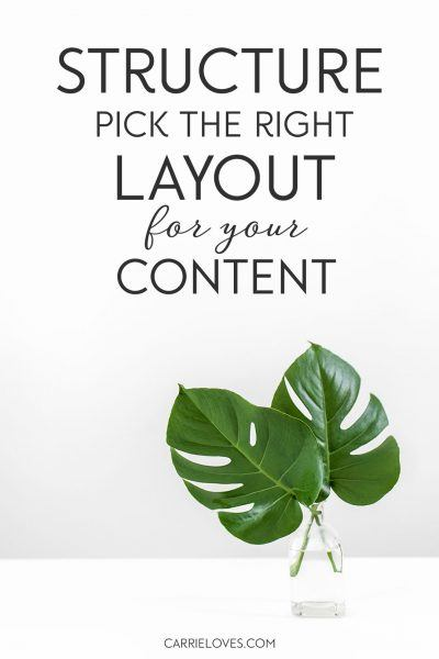 What is the right layout for your blog?