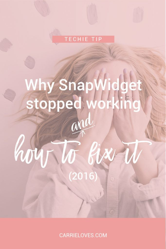 Why doesn't my Instagram Snapwidget feed work - Carrie Loves Blog