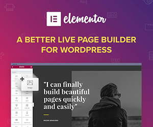 Elementor, the most advanced Drag & drop live page builder for WordPress